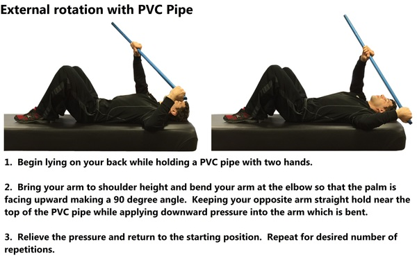 External Rotation with PVC Pipe